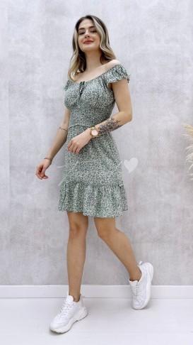 Çıtır Desen Mini Elbise - Mint