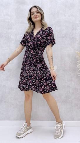 Anvelop Mini Elbise - Şal Desen