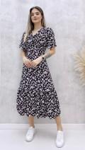 Korsajlı Elbise - Siyah