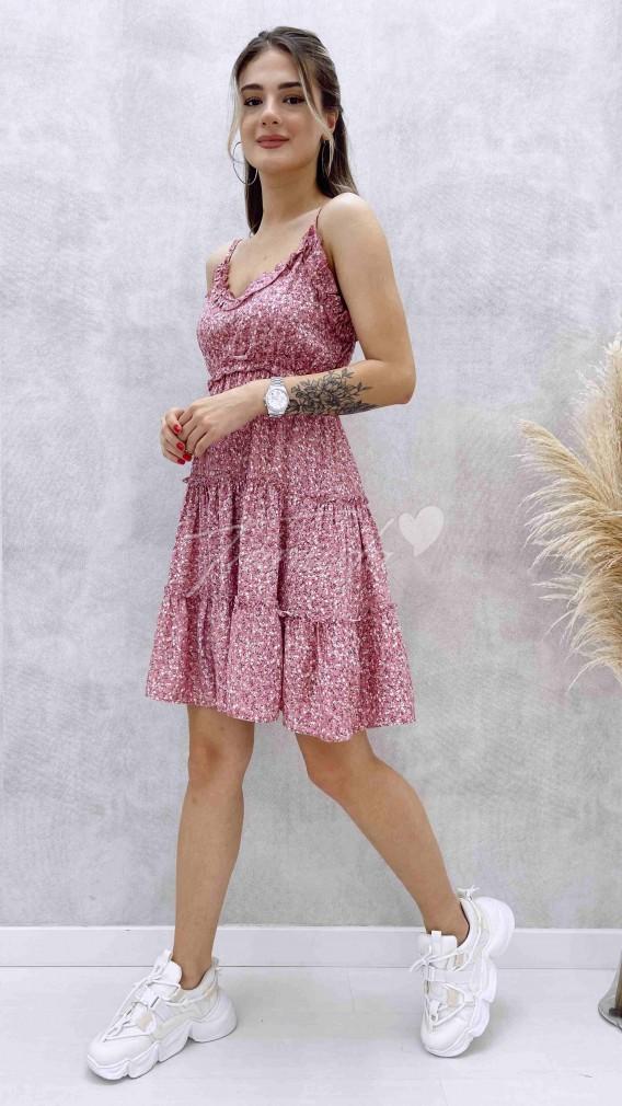 Ayarlanabilir Askılı Elbise - Pudra