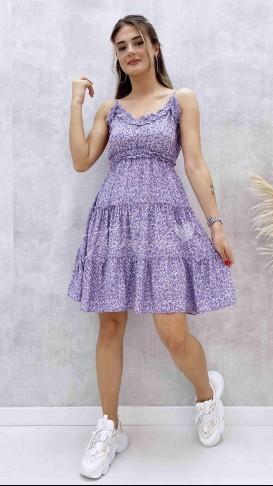 Ayarlanabilir Askılı Elbise - Lila