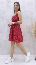 Ayarlanabilir Askılı Elbise - Kırmızı
