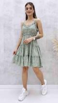 Ayarlanabilir Askılı Elbise - Mint