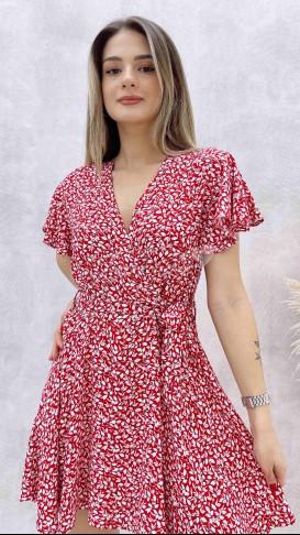 Şort Etekli Elbise - Kırmızı