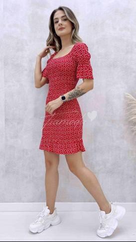 Full Gipeli Elbise - Kırmızı
