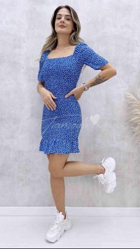 Full Gipeli Elbise - Mavi