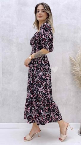 Yaprak Desen Gipeli Elbise