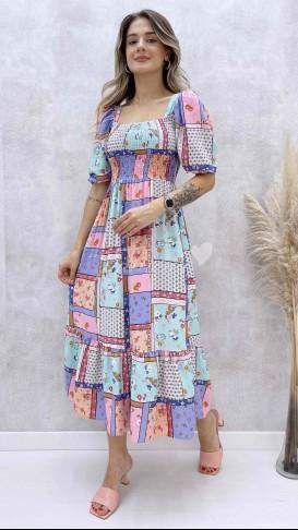 Yama Desen Gipeli Elbise