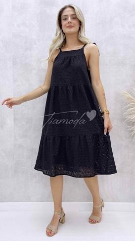 Halter Yaka Fisto Elbise - Siyah