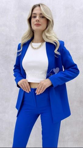 Ceket Pantolon Takım - Saks Mavi