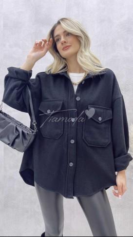 Kaşe Oduncu Gömlek - Siyah