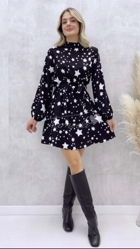 Yıldız Desen Şortlu Elbise