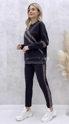 Leopar Şeritli Dalgıç Kumaş Takım