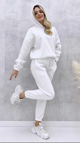 İçi Polar Eşofman Takımı - Beyaz