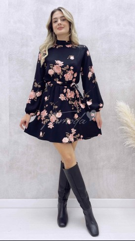 Çiçek Desen Şortlu Elbise
