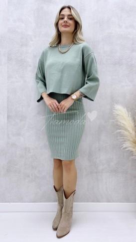 Elbise Kazak Takım - Mint