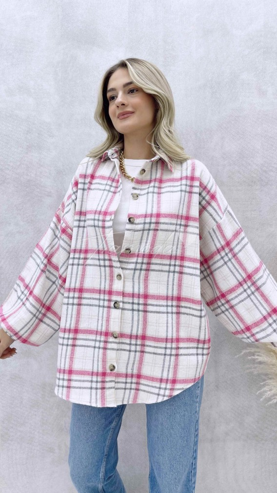Kareli Oduncu Gömlek - Pembe